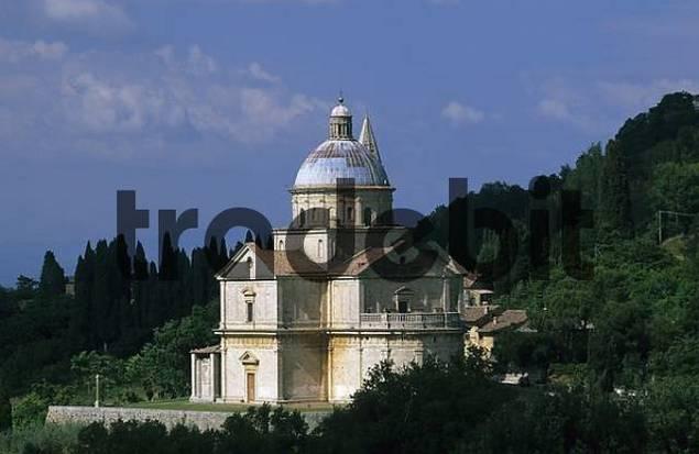 church Madonna de San Biagio Montepulciano Tuscany Italy