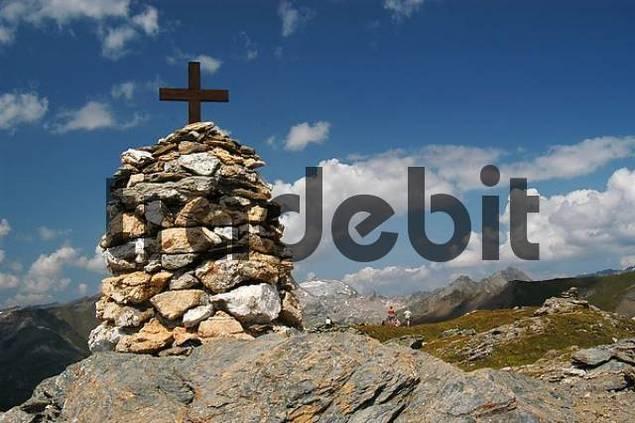 cross at the peak of Mohar, national park Hohe Tauern, Austria