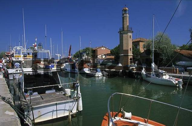 Adriatic coast Emilia-Romagna Cervia lighthouse San Michele