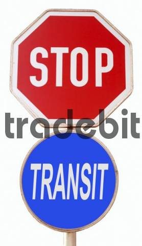 symbolic for stop transit traffic