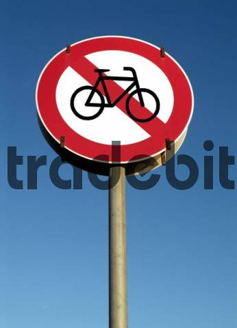 traffic sign, No Bicycle