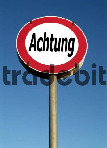 traffic sign, symbolic for attention