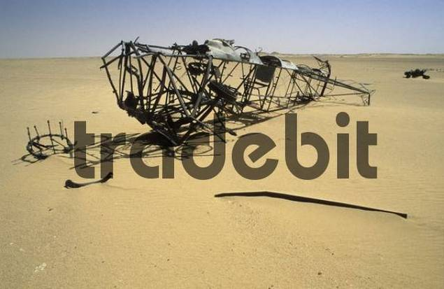 wreck of an italian plane, World War II, Libya