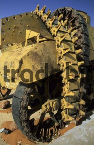 old italian tank in the libyan desert