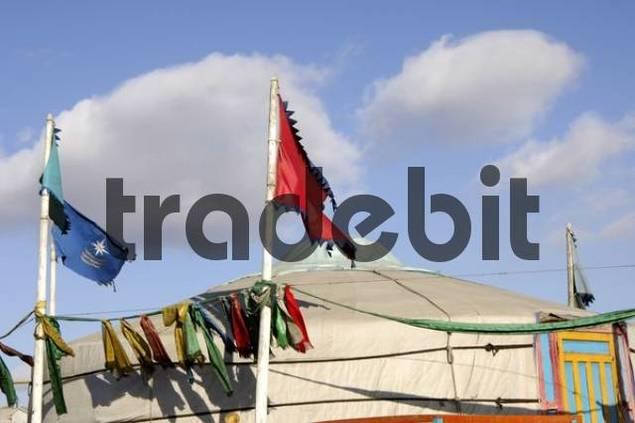 Yurt of a shaman Ulaan-Baatar Mongolia