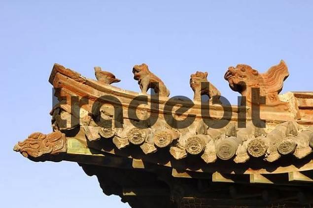 Roof detail Temple museum of the Choijin Lama Ulaan-Baatar Mongolia