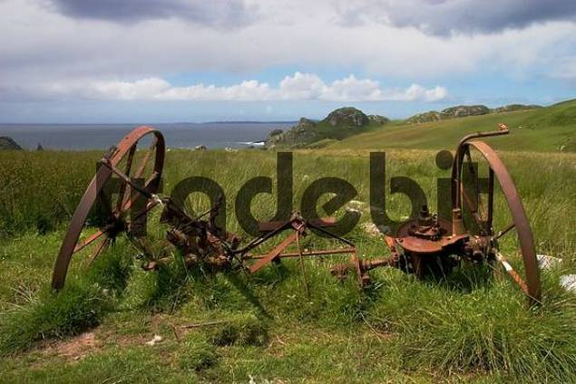 discarded farmers tools on an scottish Isle