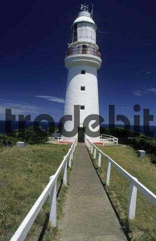 historic lighthouse at Cape Otway, Great Ocean Road, Victoria, Australia