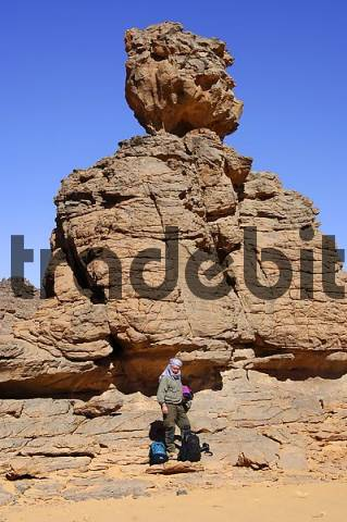 Rock formation in the Acacus Mountains Libya