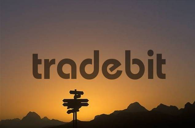 signposts in the morning Alps Vorarlberg Austria