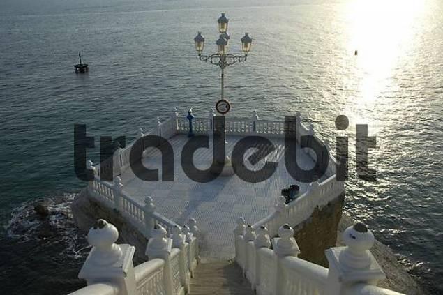 Viewing platform, balcony of the Mediterranean, Benidorm, Costa Blanca, Spain