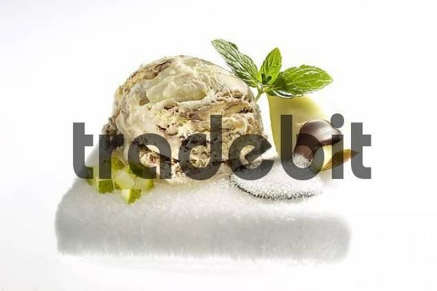 pear icecream with pear