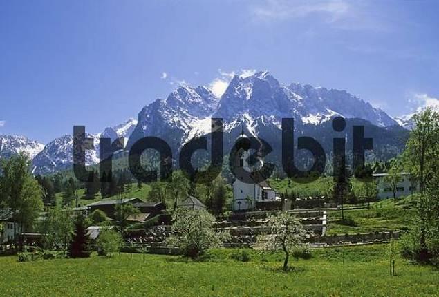 Obergrainau - Waxenstein mountain - Upper Bavaria Germany