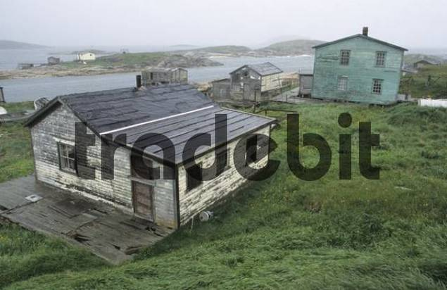old homes in the outpost of Battle Harbour National Historic District, Labrador