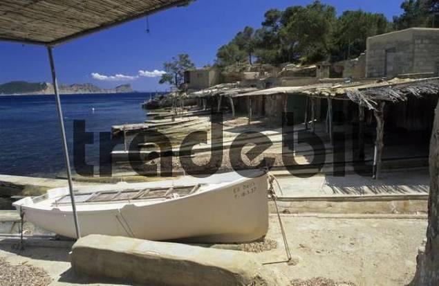 Boat Garages At Cala Sa Caleta Ibiza Download Architecture