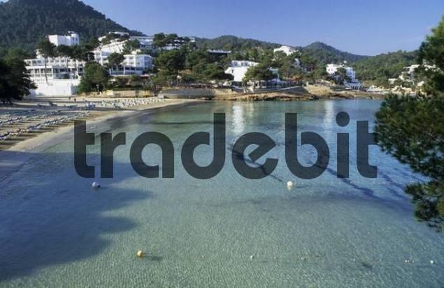 bay and beach of Portinatx, Ibiza