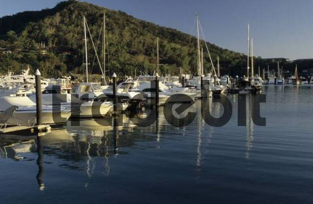 marina of Hamilton Island, Whitsunday Islands, Great Barrier Reef, Queensland