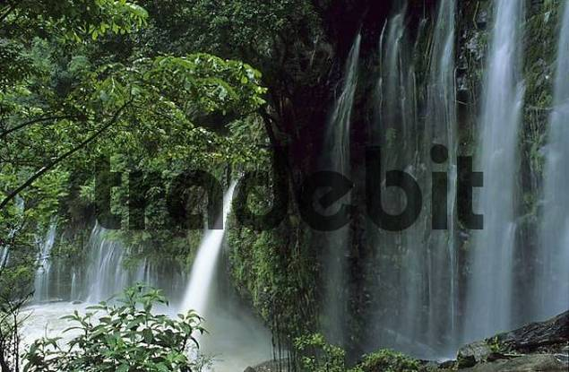 Mexico Michoacan Tzararacua waterfalls