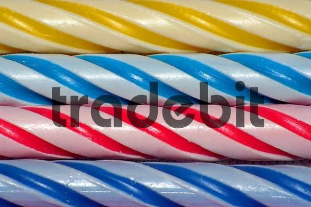 colourful spiral on birthday candles