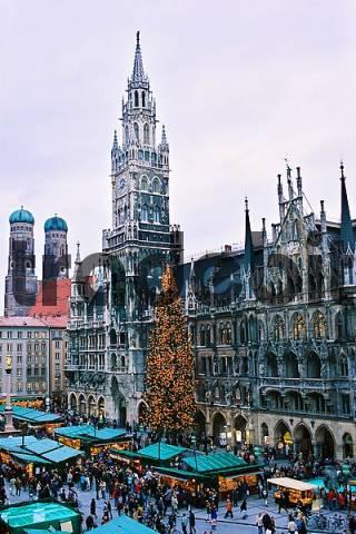 Munich, Maria Marien Square, Christmas Fair, Christmas Market