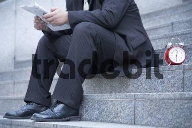 Businessman in his lunch break