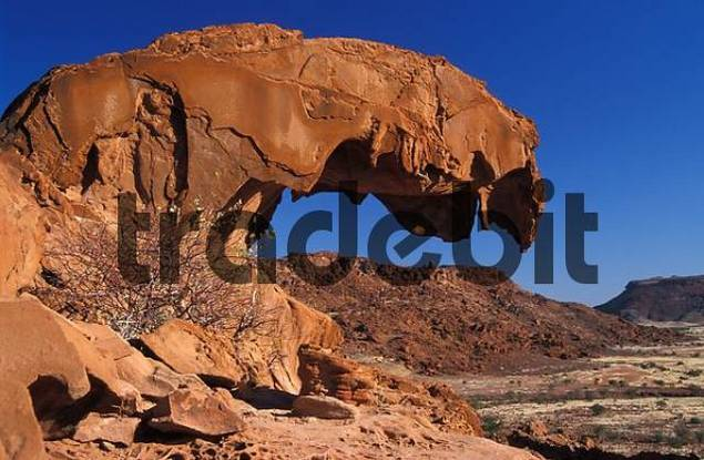 Rock formation quotLions Mouthquot Twyfelfontein, Namibia