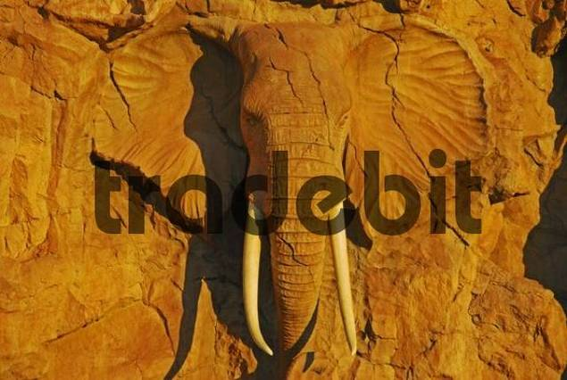 Elephant made of stone Sun City las Vegas of South Africa, Province North-West, Sun City, South Africa