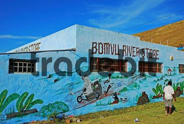 Colourful supermarket in Qunu, birthplace of Nelson Mandela, the Transkei, Eastern Cape province, South Africa, Africa