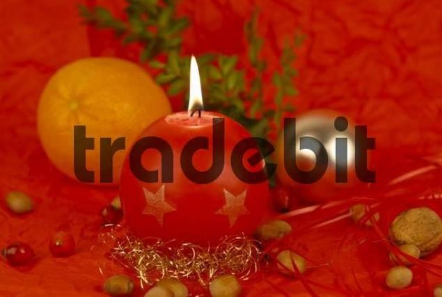Christmas mood with candle