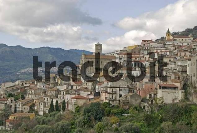 mountain village on the east coast Casalvecchio Siculo, Sicily, Italy