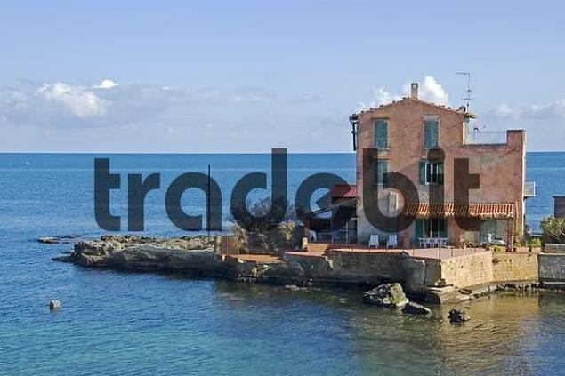 house near the sea Zingara National Park, Zingara, Sicily, Italy