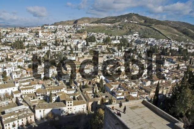 View of Albaicin, Granada, Andalusia, Spain