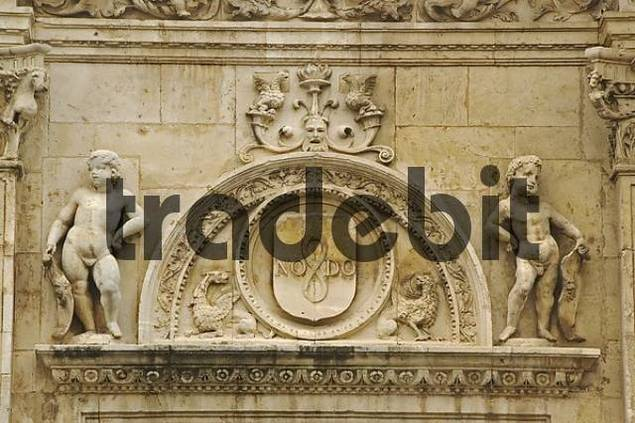 Baroque archway, Seville, Andalusia, Spain, Europe