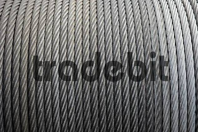unrolled wire-cables, wire-cable, roll, steel cable, draw works Hen...