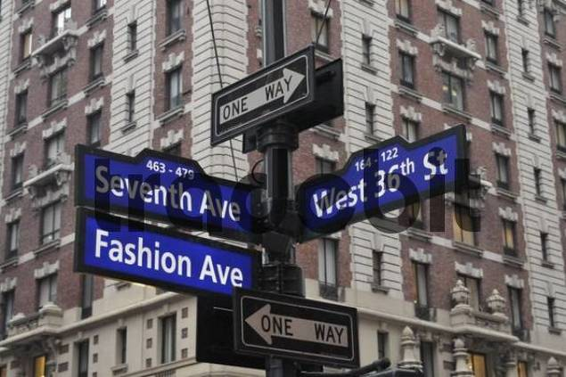 Fashion District, Fashion Walk of Fame, New York, USA