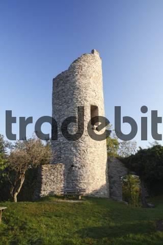 Ebersburg castle ruin, Rhoen, Hesse, Germany