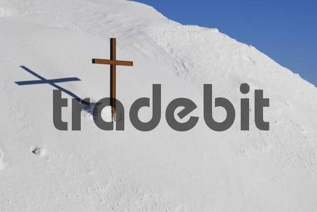 a cross on the top of Saentis - Switzerland, Europe.
