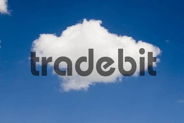 Single cloud in blue sky, Sesto, Italy, Europe