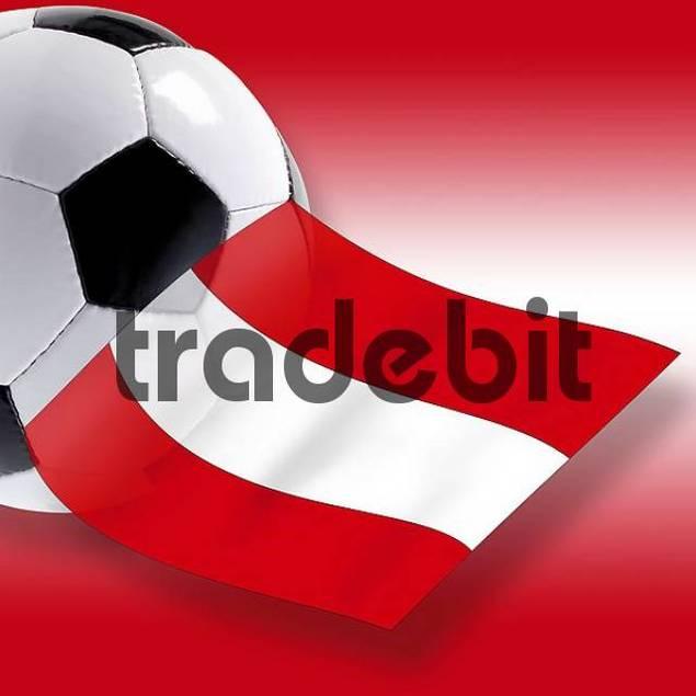 Football with Austrian flag