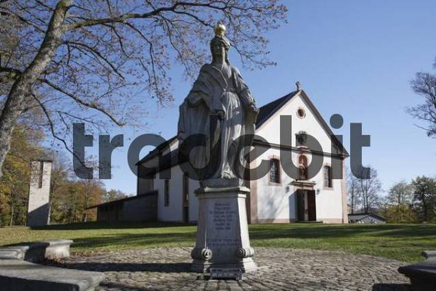 pilgrimage church Maria Ehrenberg near Motten, Rhoen, Franconia, Bavaria, Germany