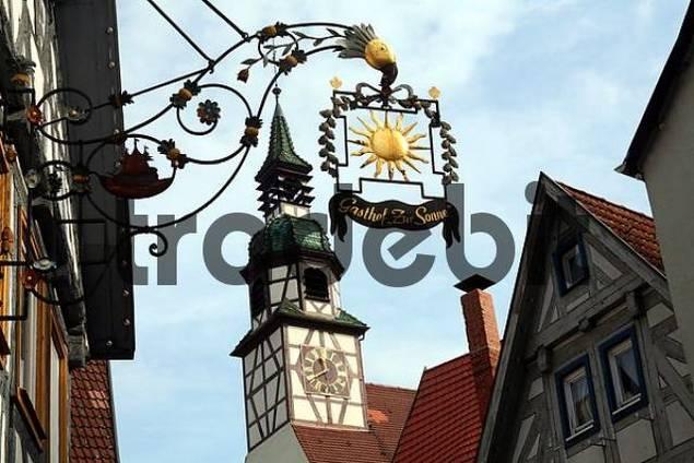 Historic centre of Waiblingen, Baden-Wuerttemberg, Germany, Europe