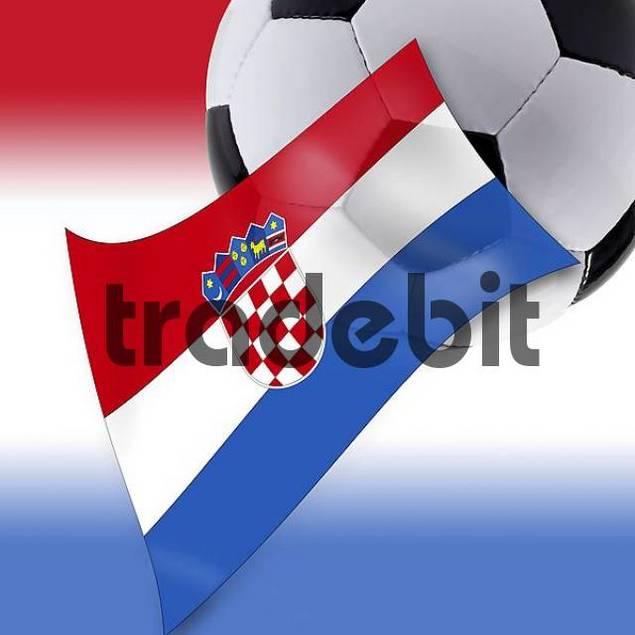 Football and Croatian flag