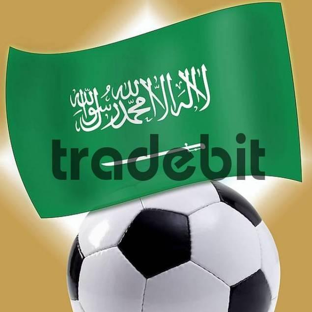 Football with Saudi flag