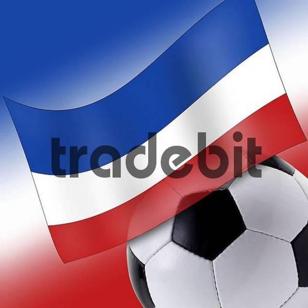 Football with Serbian flag