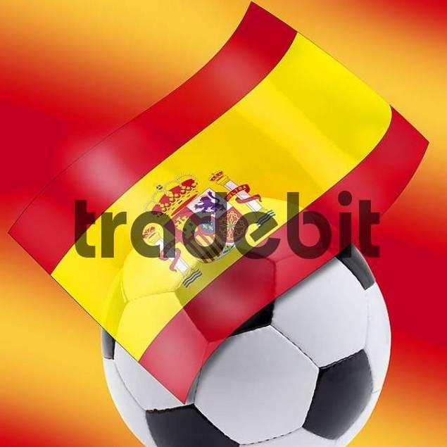 Football and Spanish flag