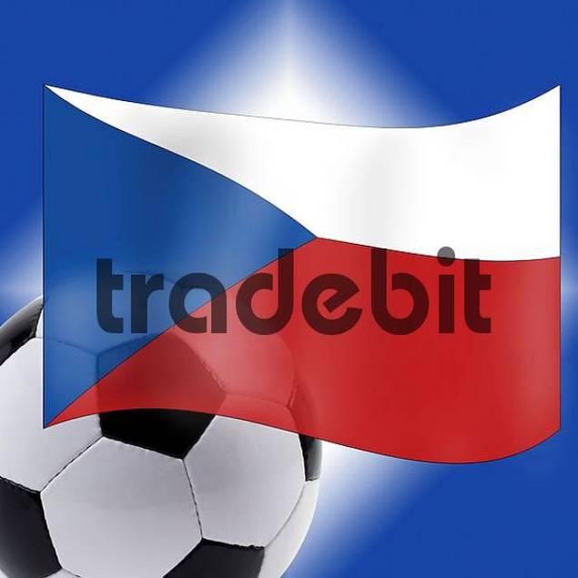 Football and Czech Flag