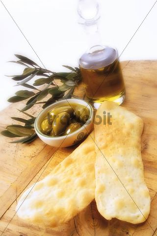 """Lingua di Suocera """"Mother-in-law´s Tongues, """" Italian specialty with olives"""
