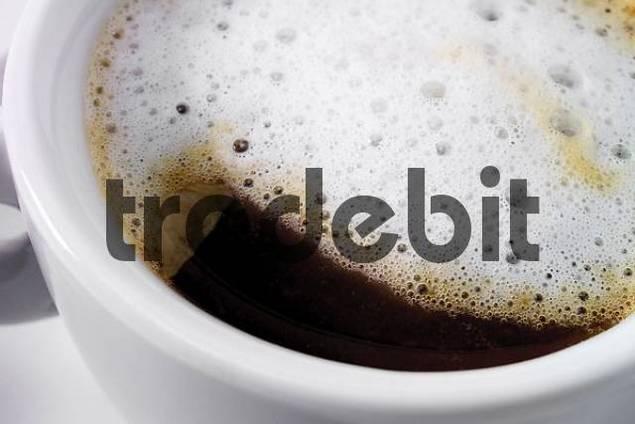 Close-up shot of foamy cappuccino