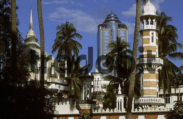 Jamik mosque in Kuala Lumpur Malaysia