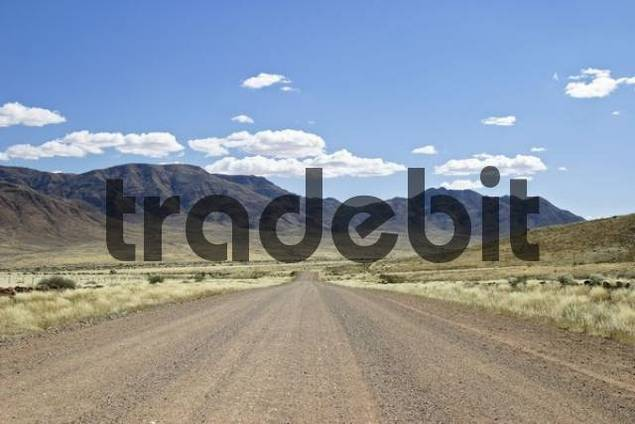Gravelroad in the south of Namibia, Africa